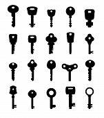 picture of skeleton key  - Icon set of keys - JPG