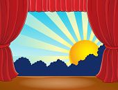 picture of stage decoration  - Stage with abstract sun 7  - JPG
