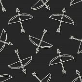 picture of bow arrow  - Arrow And Bow Doodle - JPG