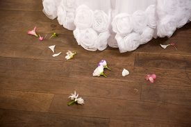picture of wedding  - long wedding gown with flowers wedding wedding - JPG