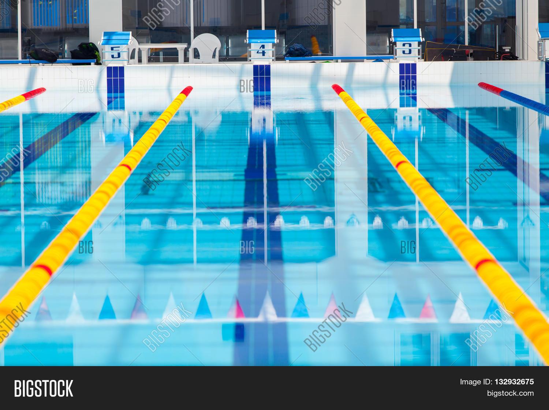 Lanes Competition Swimming Pool Image Photo Bigstock