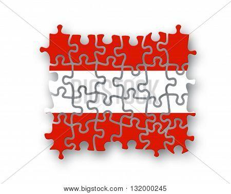 Austria Flag Jigsaw