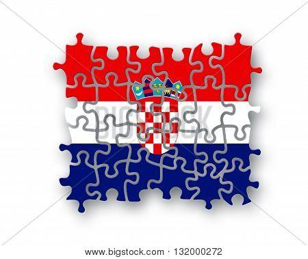 Croatia Flag Jigsaw