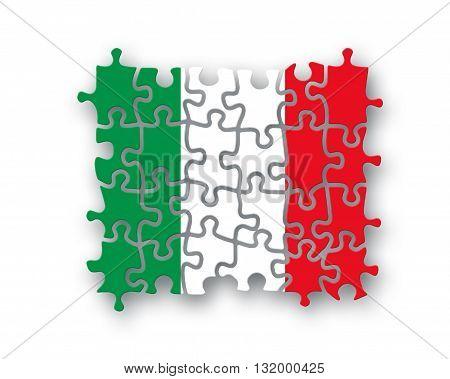 Italy Flag Jigsaw