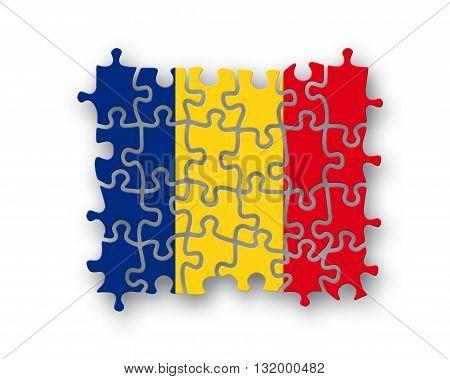 Romania Flag Jigsaw
