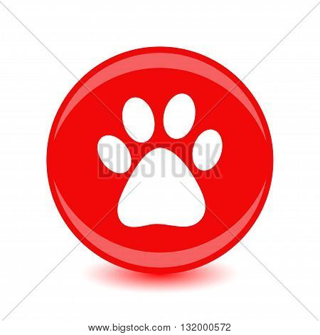 Vector icon footprint of an animal. Stock picture.