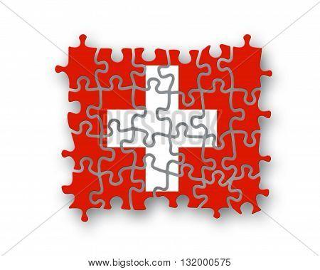 Swiss Flag Jigsaw