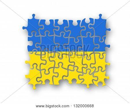 Ukraine Flag Jigsaw