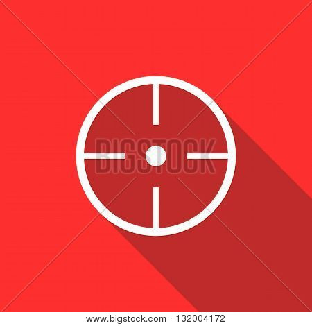 Paintball aim icon in flat style with long shadow