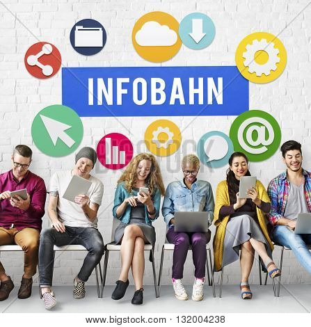 Infobahn Technology Network Online Concept