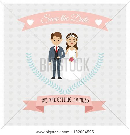 Married concept with icon design, vector illustration 10 eps graphic.