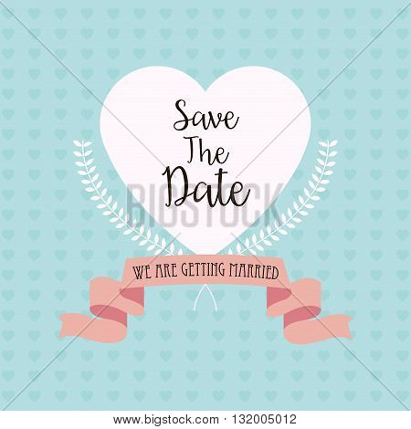 Married save the date concept with icon design, vector illustration 10 eps graphic.