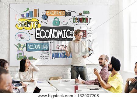Economics Money Cash Flow Graphics Concept