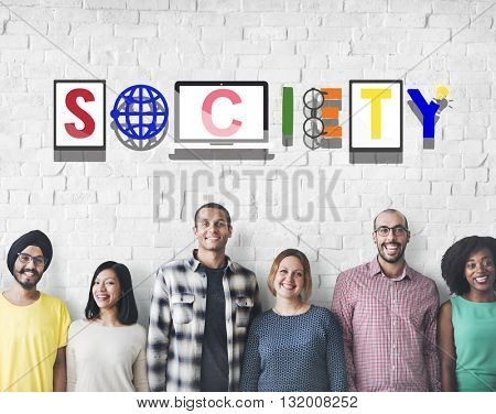 Society Connection Global Community Unity Citizen Concept