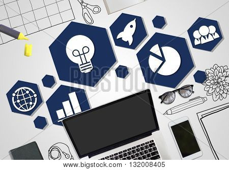 Launch Start up Business Success Release Concept