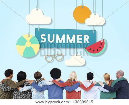 Summer Beach Holiday Vacation Summertime Concept