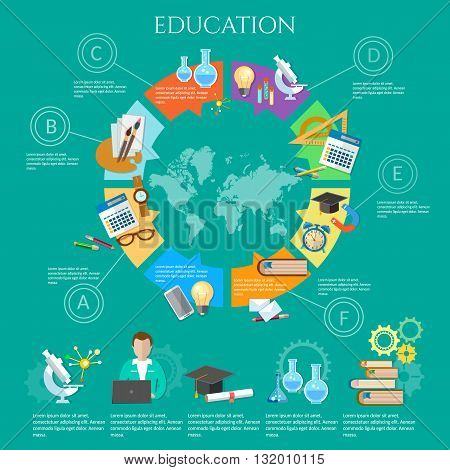 Education infographic diagram knowledge student vector illustration