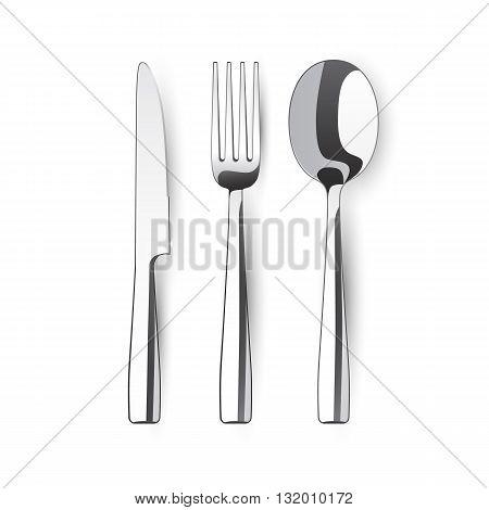 fork spoon knife - vector illustration on white background