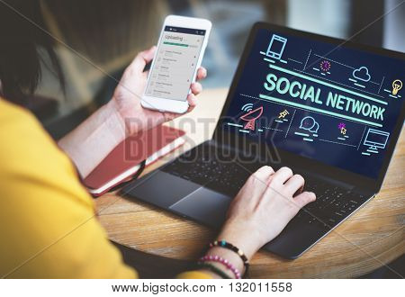 Social Network Chat Communication Discussion Concept
