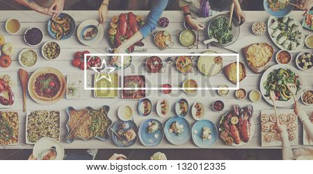 Healthy Food Lunch Meal Eating Concept