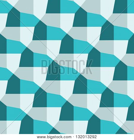 Pentagonal tiling background, geometric seamless pattern, gray and teal colors