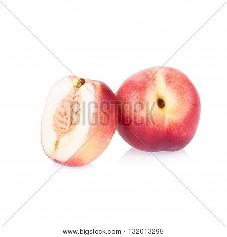 Nectarine, Nectarine fruit isolated on white background.