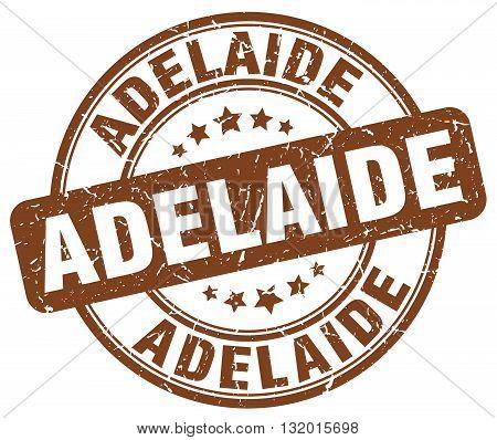 Adelaide brown grunge round vintage rubber stamp.Adelaide stamp.Adelaide round stamp.Adelaide grunge stamp.Adelaide.Adelaide vintage stamp.