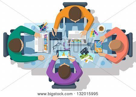 Web Design Team Vector