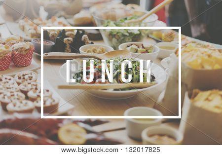 Lunch Food Restaurant Buffet Concept