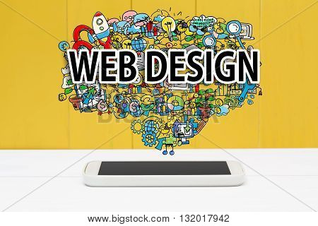 Web Design Concept With Smartphone