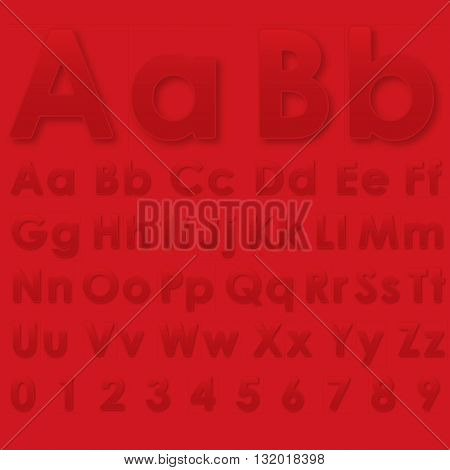 Alphabet Letters On A Red Background