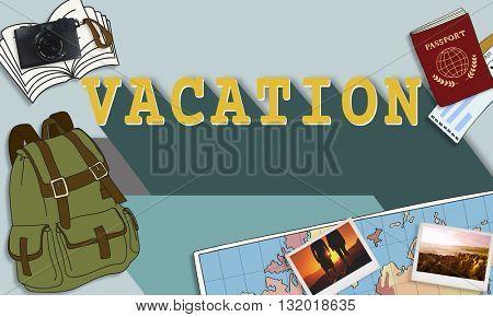 Vacation Travel Destination Explore Concept