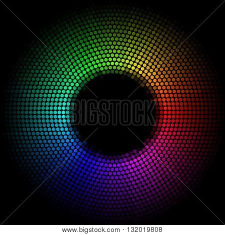 Multicolor dots digital in the form circle