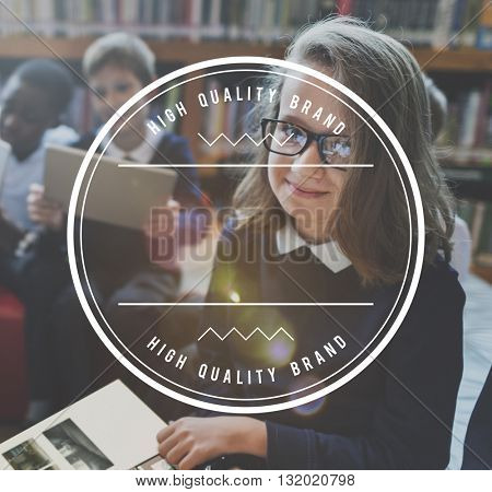 Student Education Learning Frame Graphic Concept
