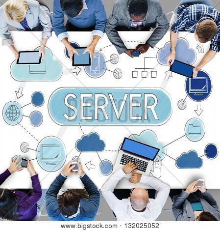Server Computer Program Data Connection Concept