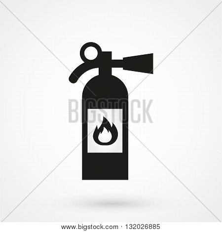 Fire Extinguisher Icon Vector Black On White Background