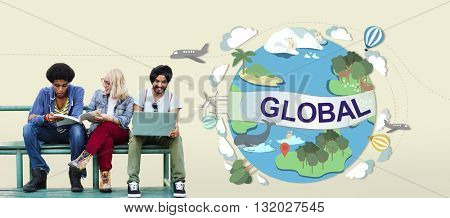 Global Climate Temperature Community Worldwide Concept