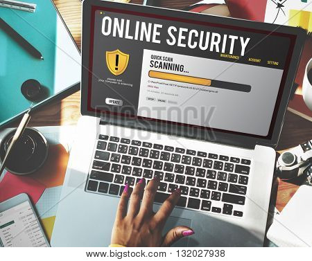Online Security Technology Computer Installing Concept