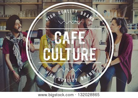 Cafe Coffee Coffeehouse Friends Lifestyle Concept