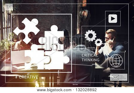 Business Startup Coworking Creativity Concept