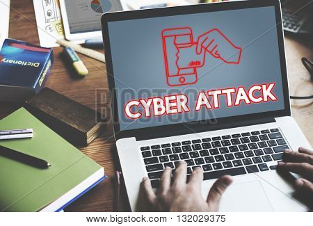 Online Security Cyber Attack Graphic Concept