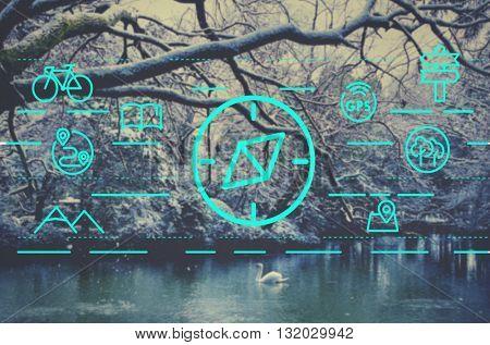 Navigation Navigator Compass Orientation Traveling Concept