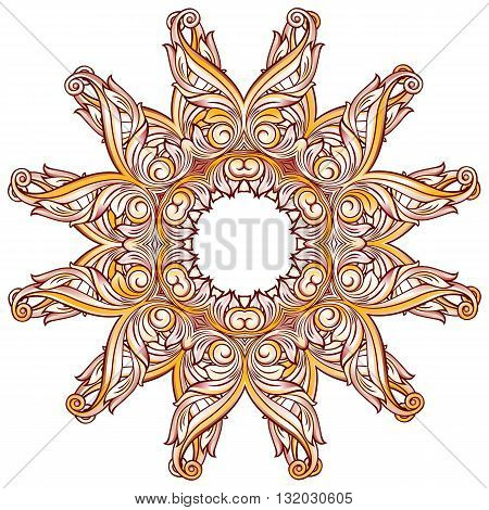 Abstract floral pattern in pastel rose pink and yellow shades on white background