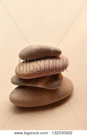Japanese Zen Stone Garden On Sand