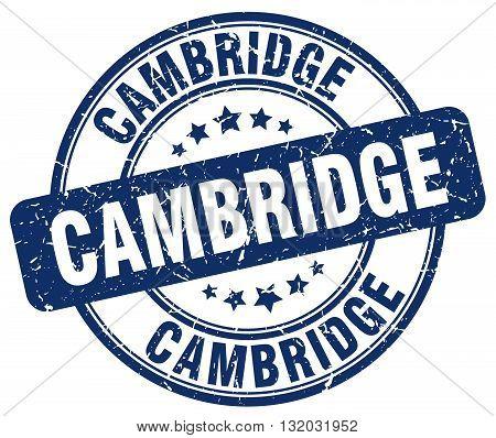 Cambridge blue grunge round vintage rubber stamp.Cambridge stamp.Cambridge round stamp.Cambridge grunge stamp.Cambridge.Cambridge vintage stamp.