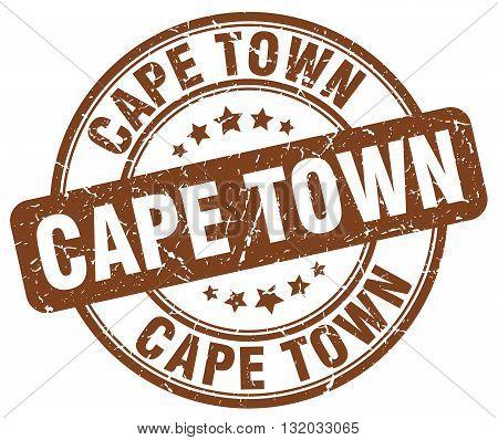 Cape Town brown grunge round vintage rubber stamp.Cape Town stamp.Cape Town round stamp.Cape Town grunge stamp.Cape Town.Cape Town vintage stamp.
