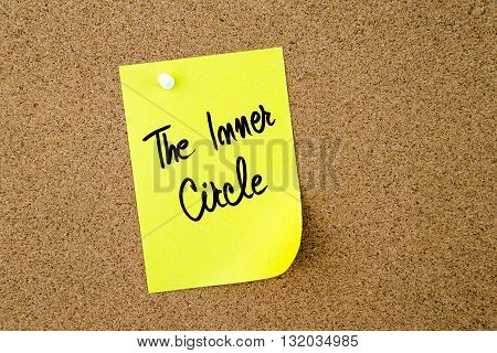 The Inner Circle Written On Yellow Paper Note