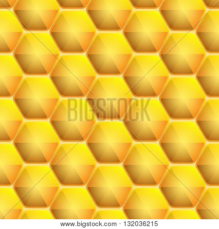 Seamless honeycomb pattern, vector illustration for Your design, eps10