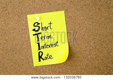 Business Acronym Stir As Short Term Interest Rate