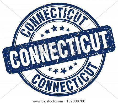 Connecticut blue grunge round vintage rubber stamp.Connecticut stamp.Connecticut round stamp.Connecticut grunge stamp.Connecticut.Connecticut vintage stamp.